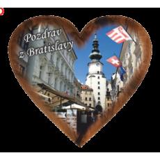 Magnetka srdiečko Bratislava 03