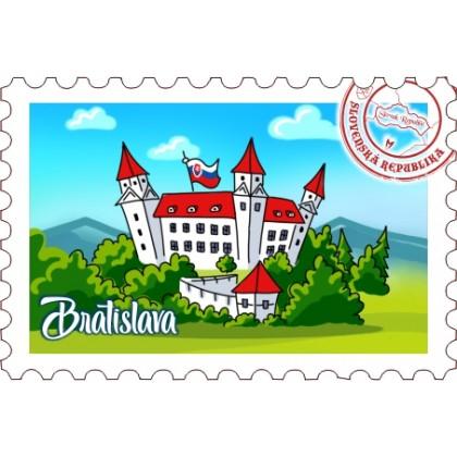 Magnetka známka Bratislava 12