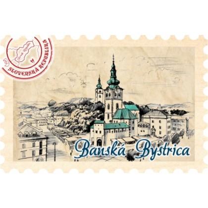 Magnetka známka Banská Bystrica 01