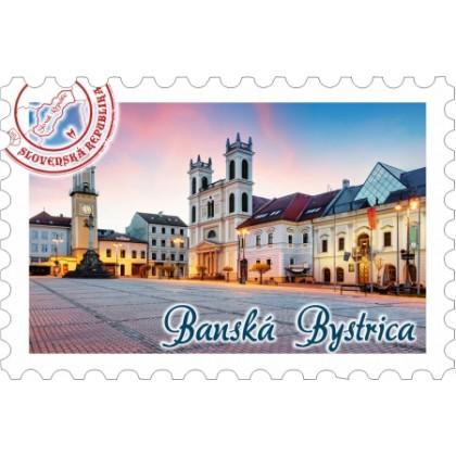 Magnetka známka Banská Bystrica 02