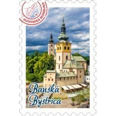 Magnetka známka Banská Bystrica 04