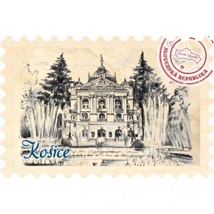 Magnetka známka Košice 06