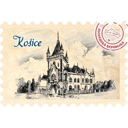 Magnetka známka Košice 07