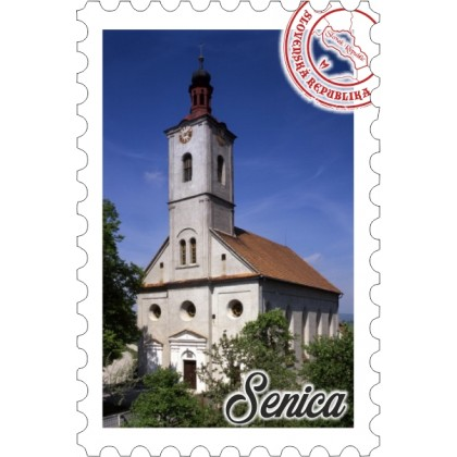 Magnetka známka Senica 01