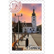 Magnetka známka Senica 02