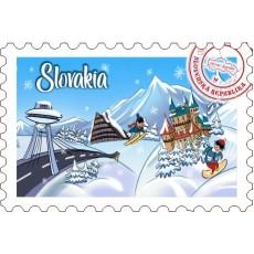 Magnetka známka Slovakia 01