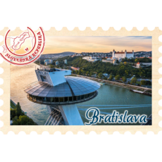 Magnetka známka Bratislava 02
