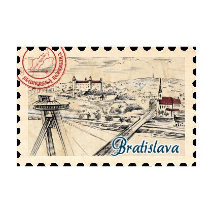 Magnetka známka Bratislava 08