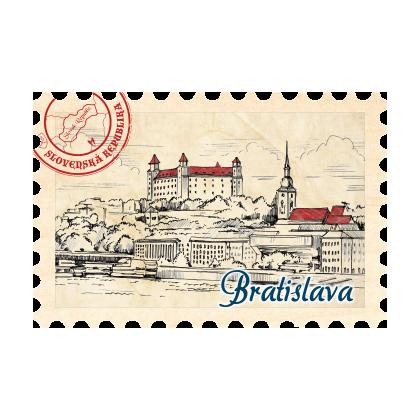 Magnetka známka Bratislava 10