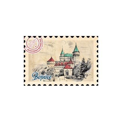 Magnetka známka Bojnice 05