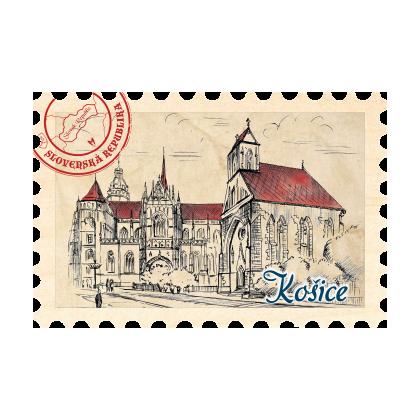 Magnetka známka Košice 05
