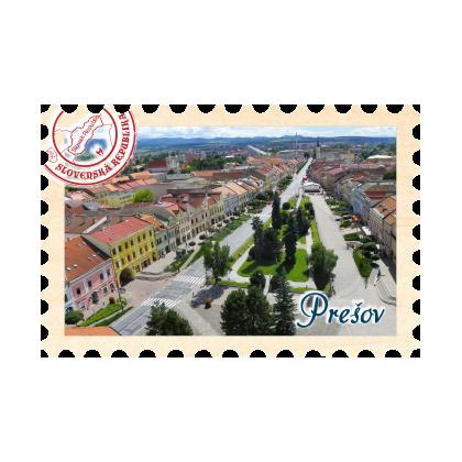 Magnetka známka Prešov 02