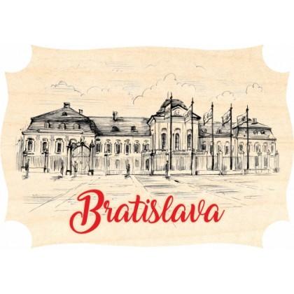 Magnetka drevená Bratislava 01