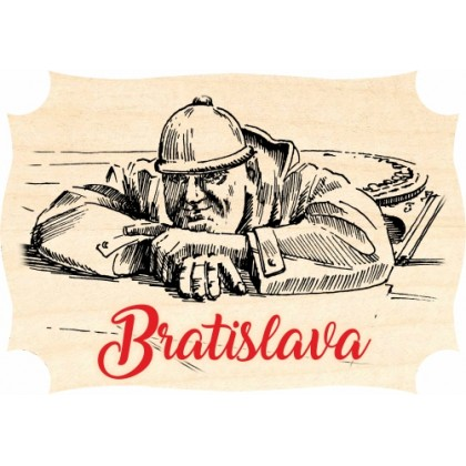 Magnetka drevená Bratislava 02
