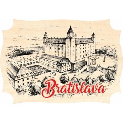 Magnetka drevená Bratislava 04