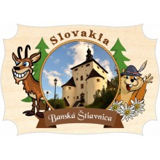 Magnetka drevená Banská Štiavnica 01a