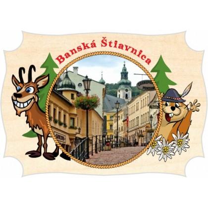Magnetka drevená Banská Štiavnica 02a