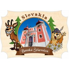 Magnetka drevená Banská Štiavnica 03a