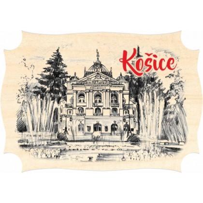 Magnetka drevená Košice 01