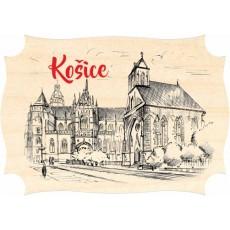 Magnetka drevená Košice 02