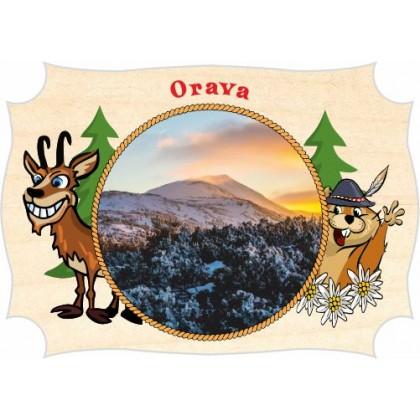 Magnetka drevená Orava 04