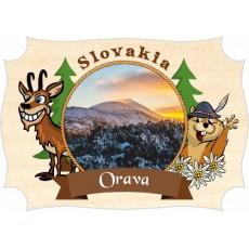 Magnetka drevená Orava 04a