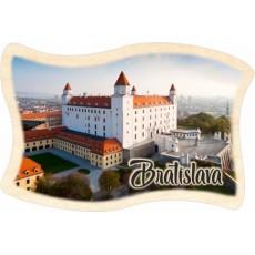 Magnetka drevená Bratislava 01 vlajka