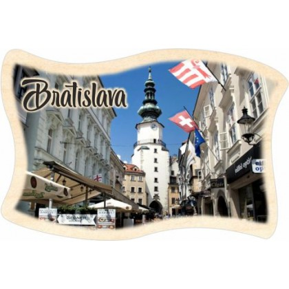Magnetka drevená Bratislava 03 vlajka