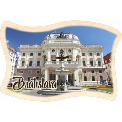 Magnetka drevená Bratislava 04 vlajka