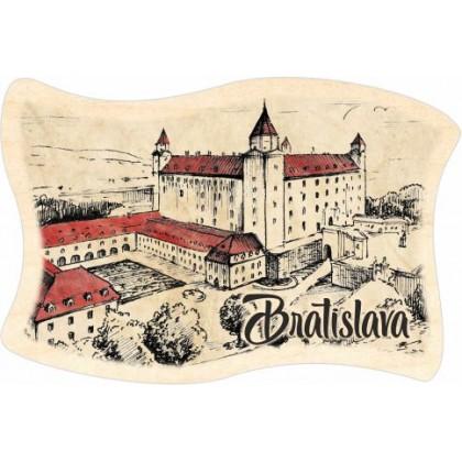 Magnetka drevená Bratislava 06 vlajka