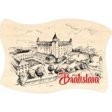 Magnetka drevená Bratislava 07 vlajka