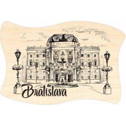 Magnetka drevená Bratislava 08 vlajka