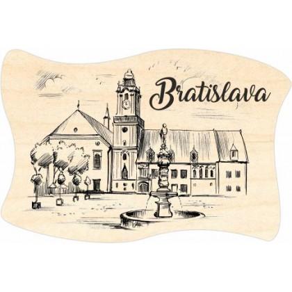 Magnetka drevená Bratislava 09 vlajka