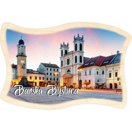 Magnetka drevená vlajka Banská Bystrica 02