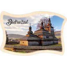Magnetka drevená vlajka Bodružal 01