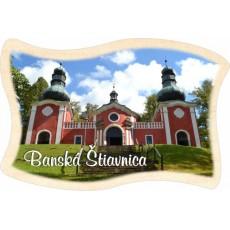 Magnetka drevená vlajka Banská Štiavnica 01