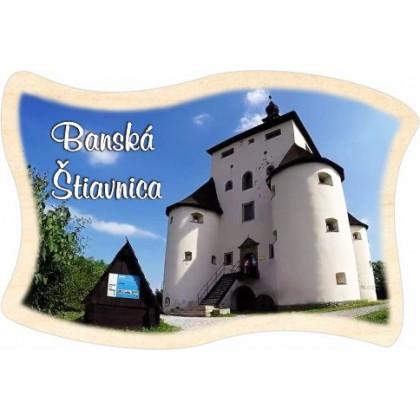 Magnetka drevená vlajka Banská Štiavnica 02