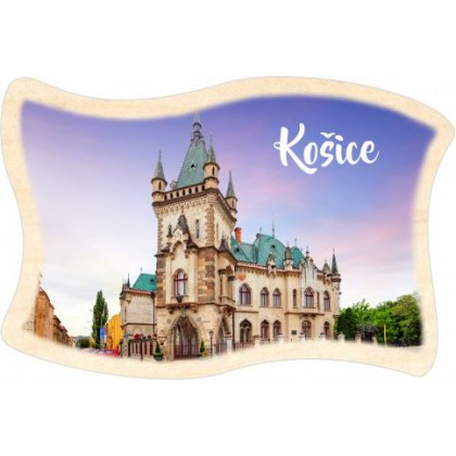 Magnetka drevená Košice 03 vlajka