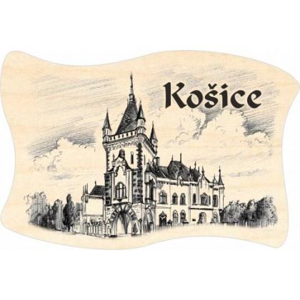 Magnetka drevená Košice 06 vlajka