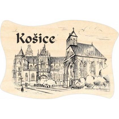 Magnetka drevená Košice 07 vlajka
