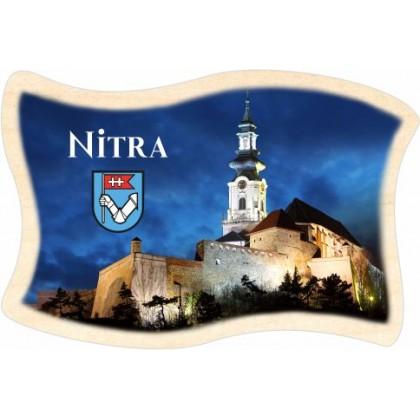 Magnetka drevená Nitra 01 vlajka