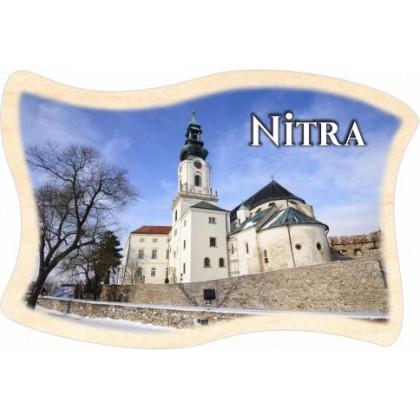 Magnetka drevená Nitra 03 vlajka