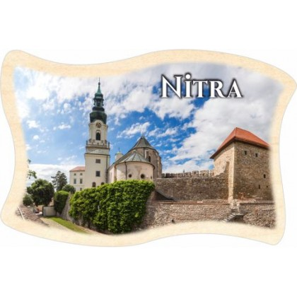 Magnetka drevená Nitra 04 vlajka