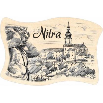 Magnetka drevená Nitra 05 vlajka