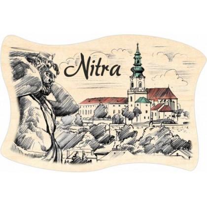 Magnetka drevená Nitra 06 vlajka