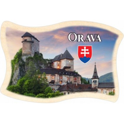Magnetka drevená Orava 02 vlajka