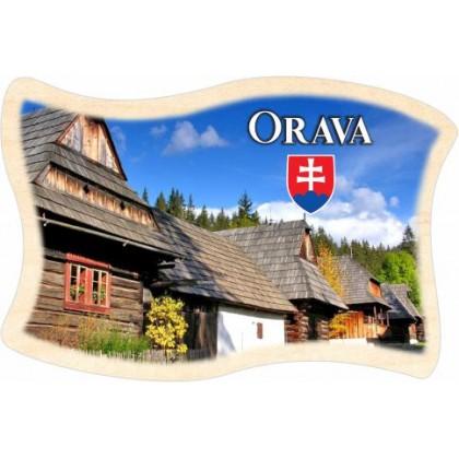 Magnetka drevená Orava 03 vlajka