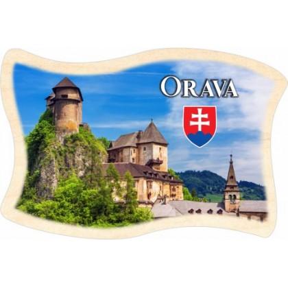Magnetka drevená Orava 04 vlajka