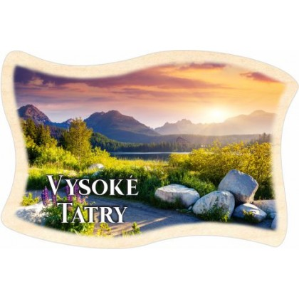Magnetka drevená vlajka Vysoké Tatry 01