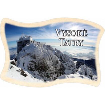 Magnetka drevená Vysoké Tatry 03 vlajka